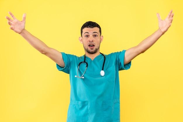 Lekarz specjalista od bocznego patrzenia cieszy się, że wszystkich pacjentów wyleczył z covid-