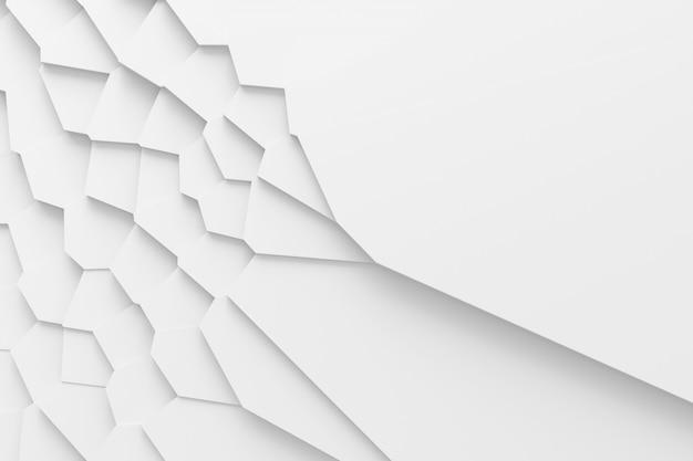 Lekka cyfrowa tekstura różnej wielkości bloki o różnych kształtach góruje jeden nad drugim, rzucając cienie 3d ilustracji