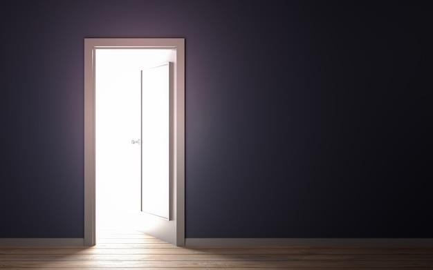 Lekki wyciek od drzwi 3d ilustraci