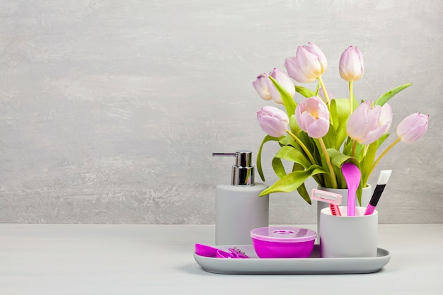 Lekkie akcesoria ceramiczne do kąpieli