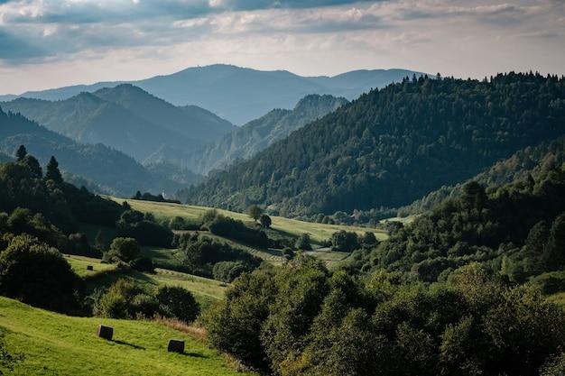 Letni krajobraz górski na słowacji