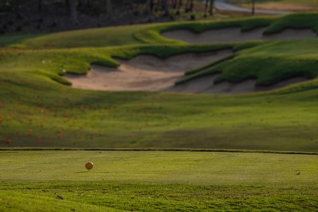 Letni krajobraz pola golfowego