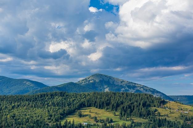 Letni krajobraz przyrodniczy karpat.
