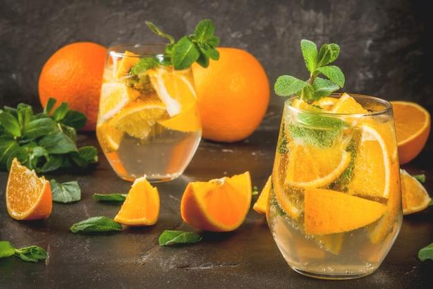 Letni orzeźwiający napój pomarańczowy