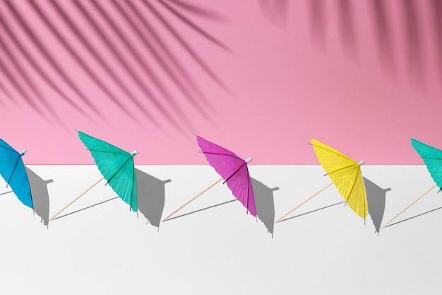 Letnia makieta w biało-różowych pastelowych kolorach