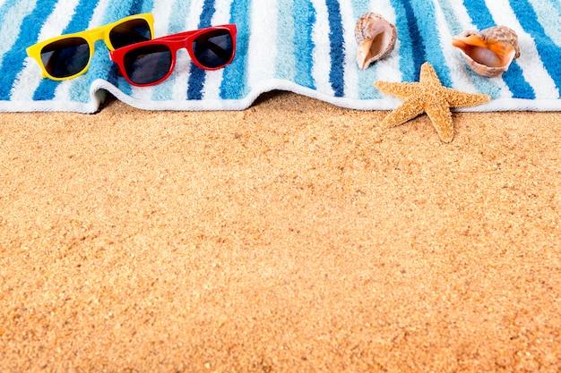 Letnia plaża tło