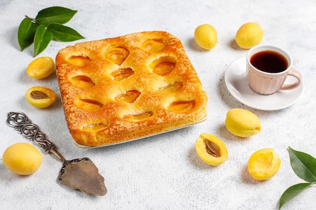 Letnie ciasto morelowe ze świeżymi morelami