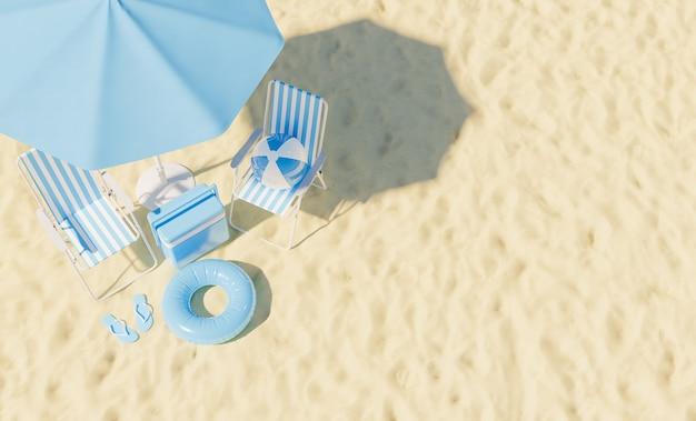 Letnie wakacje koncepcja widok z góry letnie tło