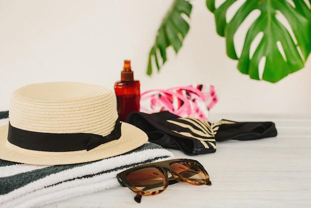 Letnie wakacje, podróże, wakacje, koncepcja plaży.