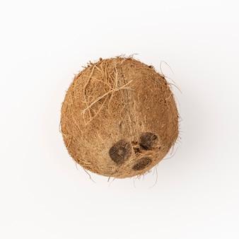 Leżał kokos płasko