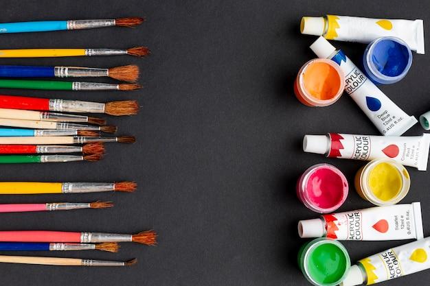 Leżał płasko kolorowy aquarelle z miejsca kopiowania