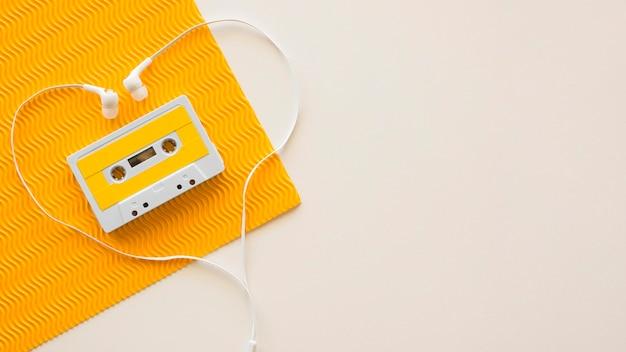 Leżał Z Płaskiej Koncepcji Muzyki Z Miejsca Kopiowania Darmowe Zdjęcia