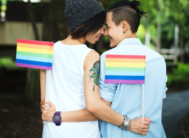 Lgbt asian lesbijek para