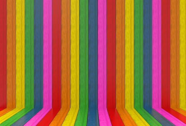 Lgbtq kolor tęczy panele drewniane ściany i podłogi tło.