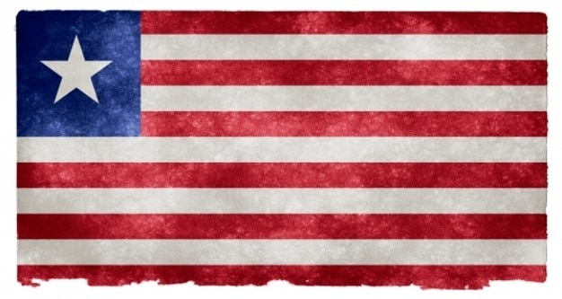 Liberia grunge flag