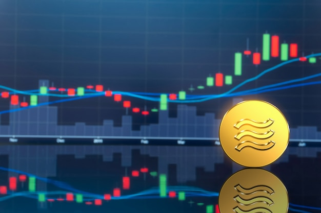 Libra cryptocurrency coin in digital money economy