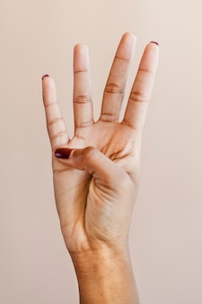 Liczenie gestu ręki