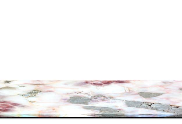 Licznik marmurowe podłogi na białym tle