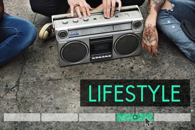 Lifestyle leisure rekreacja ikona aktywności