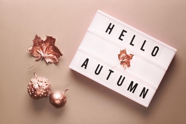 Lightbox z tekstem witaj jesienią
