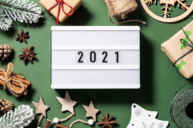 Lightbox z wystrojem noworocznym i bożonarodzeniowym