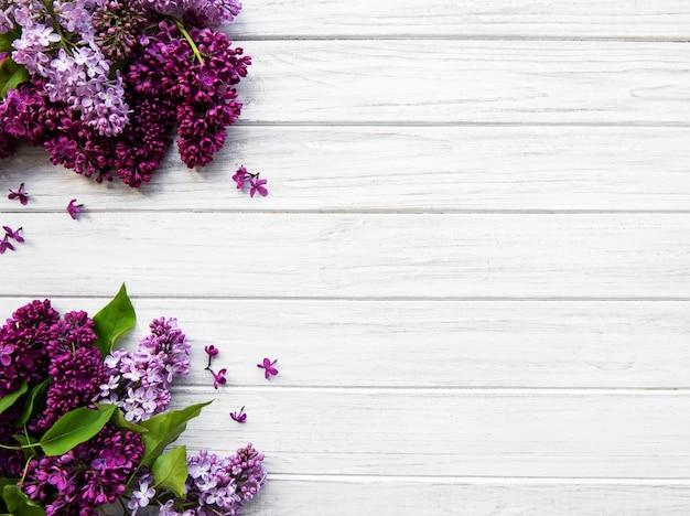 Liliowa wiosna kwiatów granicy