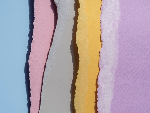 Linie abstrakcyjne podarte krawędzie papieru
