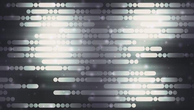 Linie i kropki, które błyszczą na czarnym tle koncepcja technologii cyfrowej high-tech streszczenie futurystyczna linia tła 3d ilustracji