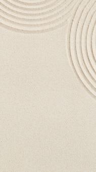 Linie rysujące na piasku piękna piaszczysta tekstura spa tło minimalna koncepcja medytacji