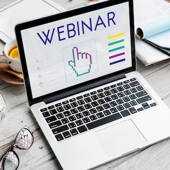 Linki do seminariów internetowych seo hand cyberspace concept
