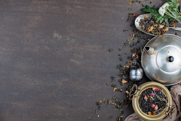 Liście herbaty tło