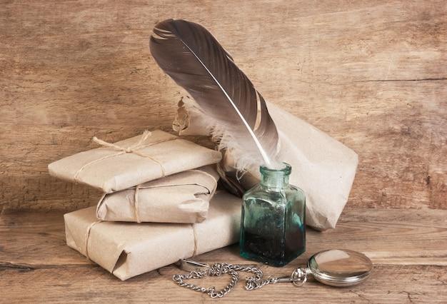 List i pióro w kałamarzu