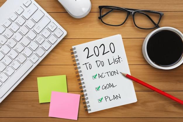 Lista celów w zakresie rozstrzygania nowego roku 2020 ustawienie celu