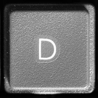 Litera d na klawiaturze komputera