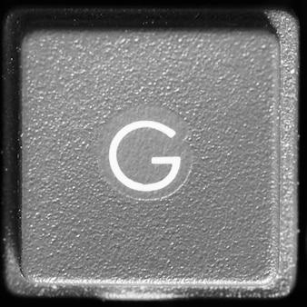 Litera g na klawiaturze komputera
