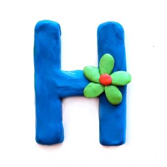 Litera h alfabetu angielskiego z plasteliny