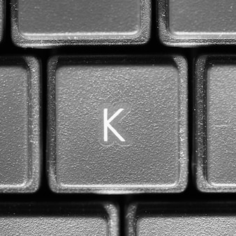 Litera k na klawiaturze komputera