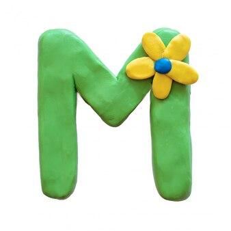 Litera m alfabetu angielskiego z plasteliny