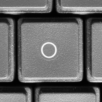Litera o na klawiaturze komputera