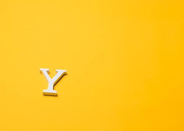 Litera y na podłodze z copyspace