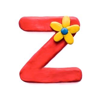 Litera z alfabetu angielskiego z plasteliny