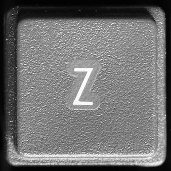Litera z na klawiaturze komputera
