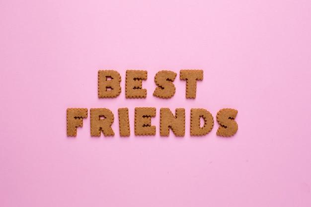 Litery ciasteczka best friends na różowo