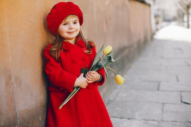 Litlle dziewczyna z kwiatami