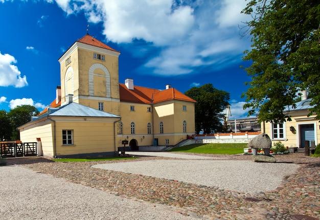 Livonian orden castle w ventspils na łotwie