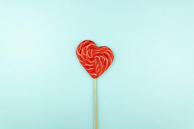Lizak w kształcie serca na walentynki