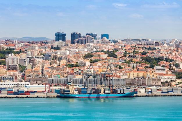 Lizbona nad rzeką tag, środkowa portugalia