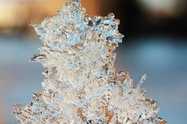 Lód makro w tle vclose up zimowe zdjęcie