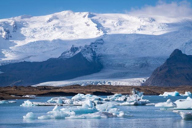 Lodowiec lagoon, jokulsarlon na islandii