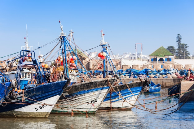 Łodzie rybackie, essaouira